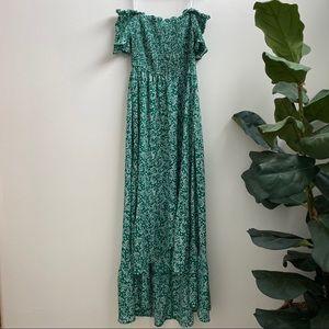 Off the shoulder maxi dress. Size medium